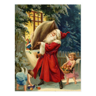 Old Fashion Santa Postcard