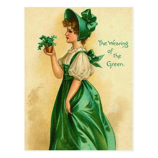 Old Fashion St. Patrick's Irish Postcards