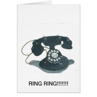 Old Fashion Telephone Card