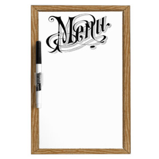 Old Fashion Vintage Looking Menu Dry Erase Board