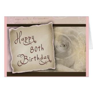 Old Fashioned 80th Birthday Greeting Card
