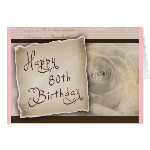 Old Fashioned 80th Birthday Greeting Greeting Cards