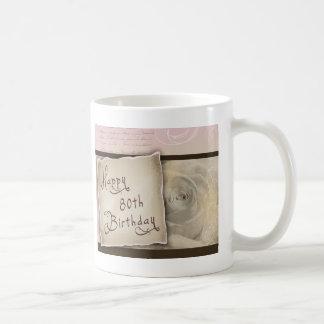 Old Fashioned 80th Birthday Greetings Coffee Mug