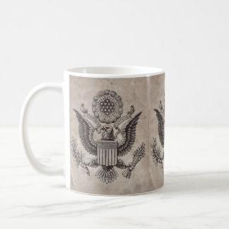 Old Fashioned American Coat of Arms Coffee Mug