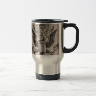 Old Fashioned American Coat of Arms Travel Mug