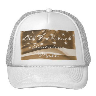 Old Fashioned American Male-Vintage look. Mesh Hat