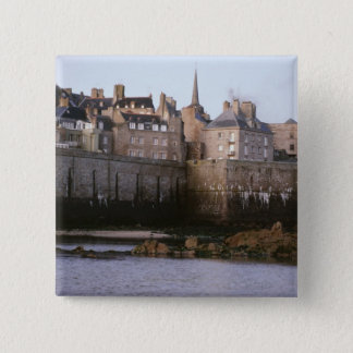 Old-fashioned architecture, Brittany, France 15 Cm Square Badge