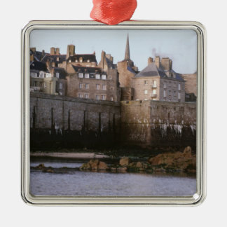 Old-fashioned architecture, Brittany, France Christmas Ornament