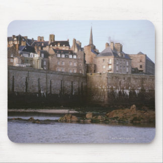 Old-fashioned architecture, Brittany, France Mouse Pad