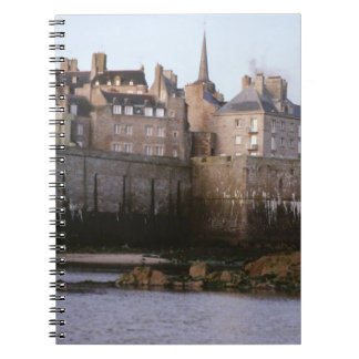 Old-fashioned architecture, Brittany, France Spiral Note Book