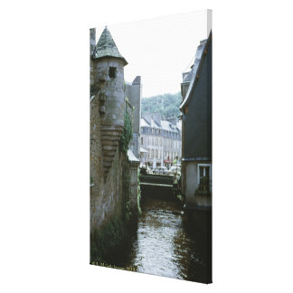Old-fashioned architecture in canal city, canvas prints
