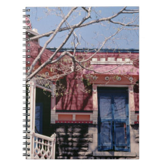 Old-fashioned architecture with balcony notebooks