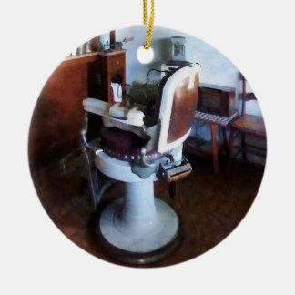 Old Fashioned Barber Chair Christmas Ornament