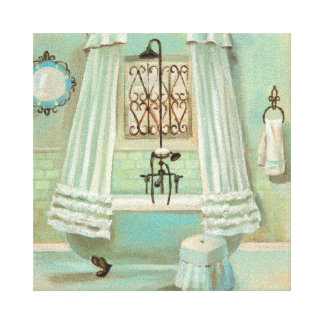 Old Fashioned Bathroom Canvas Print