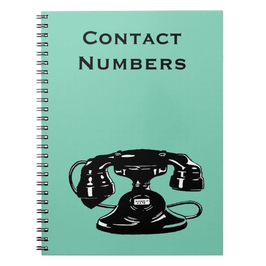 Old Fashioned Black Dial Phone Notebooks