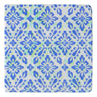 Old Fashioned Blue and White China Pattern Trivet