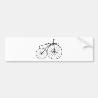 "Old-Fashioned ""Boneshaker"" Bicycle Bumper Sticker"