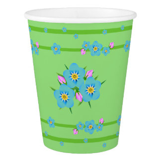 Old-fashioned Bouquet Forget-Me-Nots Party Cup