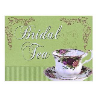 Old fashioned Bridal Tea Invitation Post Card
