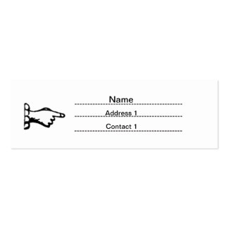 old fashioned business card template