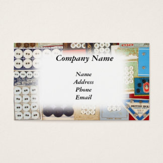 Old Fashioned Button Collection Business Card