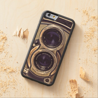 Old-fashioned camera carved maple iPhone 6 bumper case