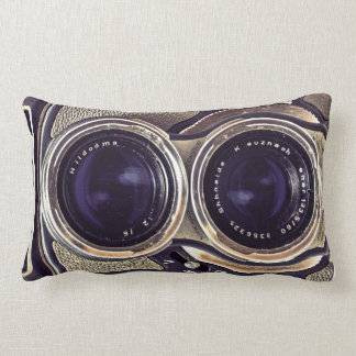 Old-fashioned camera throw pillows