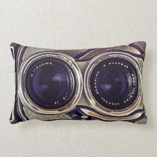 Old-fashioned camera throw cushions