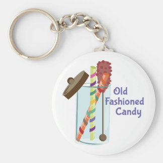 Old Fashioned Candy Basic Round Button Key Ring