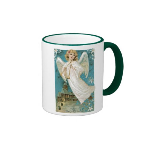 Old Fashioned Christmas Angel Coffee Mugs