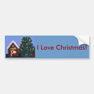 Old Fashioned Christmas Bumper Sticker