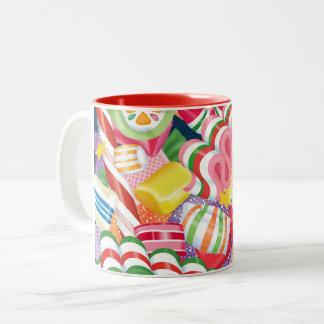 Old Fashioned Christmas Candy Two-Tone Coffee Mug