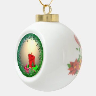 Old-fashioned Christmas Ceramic Ball Christmas Ornament