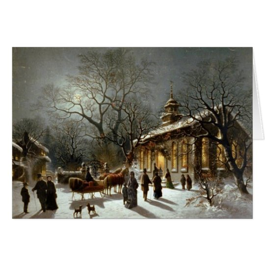 Old Fashioned Christmas Church Card