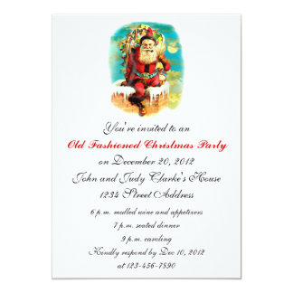 Old Fashioned Christmas Party Invitations