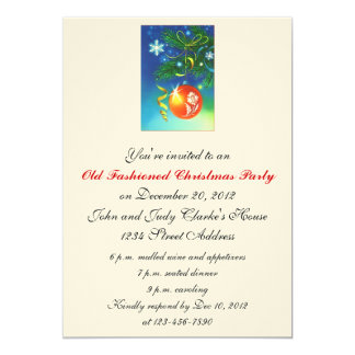 Old Fashioned Christmas Party Invitations Ornament