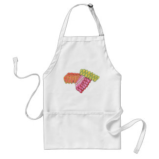 Old-Fashioned Christmas Ribbon Candy Holiday Apron