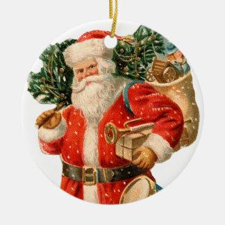Old-fashioned Christmas, Santa Christmas Ornament