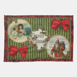 Old Fashioned Christmas Tea Towel