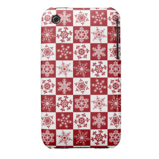 Old Fashioned Christmas Traditional Snowflake iPhone 3 Case-Mate Cases