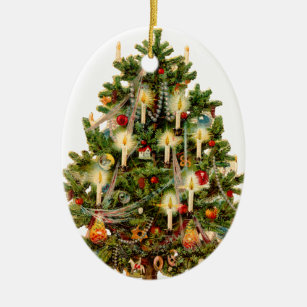 old fashioned christmas tree christmas ornament