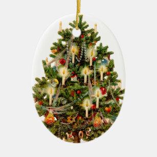 old fashioned christmas tree christmas ornament