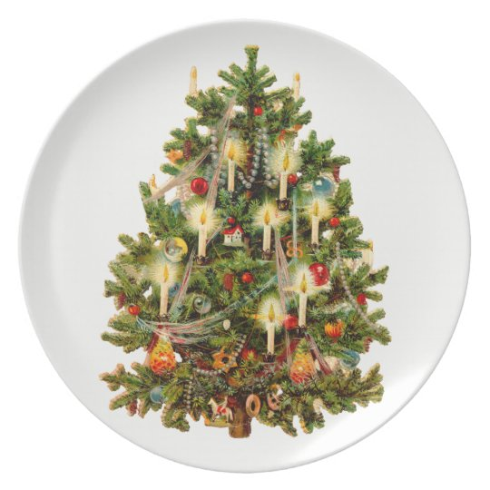 Old Fashioned Christmas Tree Plate