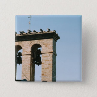 Old-fashioned church bells, Assisi, Italy 15 Cm Square Badge