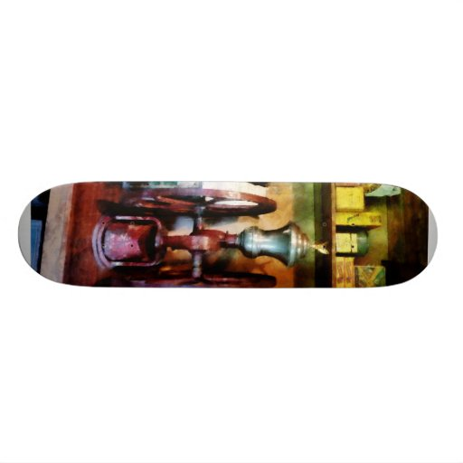 Old Fashioned Coffee Grinder Skate Board Deck