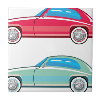 Old Fashioned Coupe Car Small Square Tile