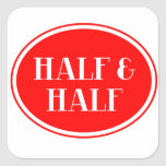 Old Fashioned Dairy Red Bottle Label Half & Half Square Sticker