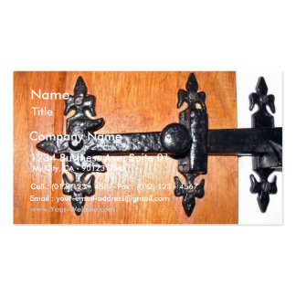 Old Fashioned Door Handle Business Card