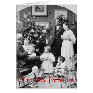 Old Fashioned Family Christmas Greeting Card