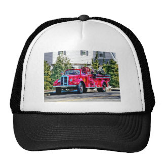Old Fashioned Fire Truck Mesh Hats